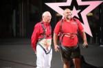 Extrem-Kraftsportler Franz Müllner (42, re.) und Bungee-Jumper Helmuth Wirtz (87)