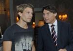 Gerner (Wolfgang Bahro, re.) und Dominiks (Raul Richter) bei GZSZ