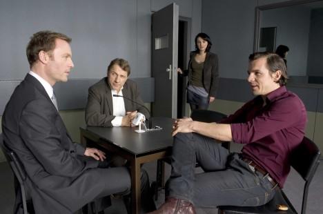Thorsten Lannert (Richy Müller) und Sebastian Bootz (Felix Klare) und Johannes Riether (Mark Waschke).