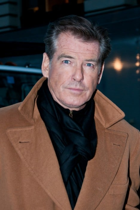 """Pierce Brosnan - """"I Don't Know How She Does It"""" Filming at Madison Square Park in New York City on January 24, 2011"""