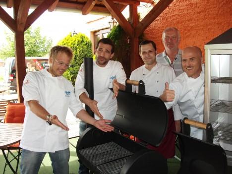 V.l.: Mario Kotaska, Martin Baudrexel, Neu-Koch, Olaf Freigang, Ralf Zacherl