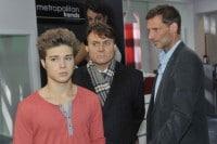 Gerner (Wolfgang Bahro, M.), Zac (Jascha Rust, l.) und Alexander (Clemens Löhr)