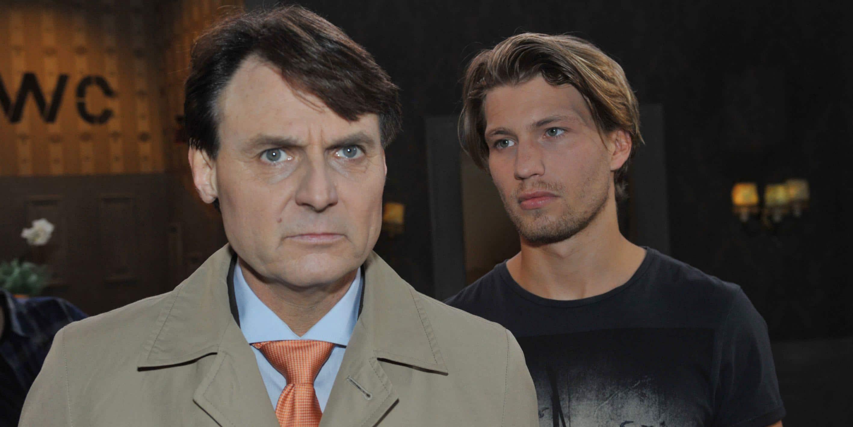 Dominik (Raul Richter, re.) und Gerner (Wolfgang Bahro) bei GZSZ