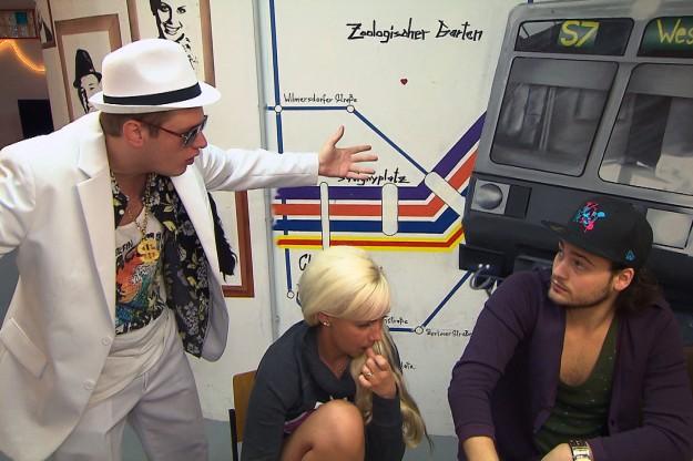 Ole, Peggy und Marcel bei Berlin Tag und Nacht