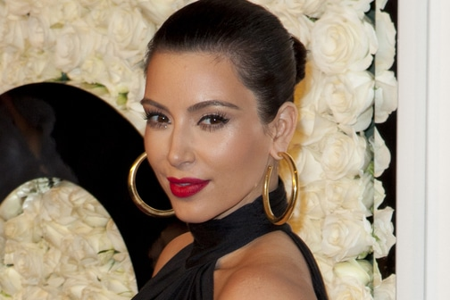 Kim Kardashian - QVC Buzz on the Red Carpet Oscar Party at the Four Seasons Hotel in Los Angeles