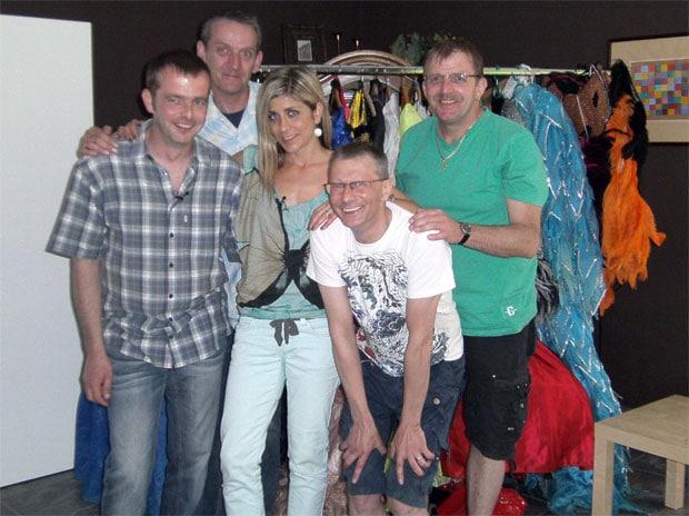 V.l.: Oliver, Michael, Panagiota, Gerald, Thomas