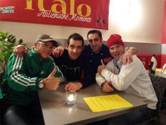 V.l.: Mario Kotaska, Martin Baudrexel, Chefkoch des Restaurants 'Italo' Antonio Corica, Ralf Zacherl