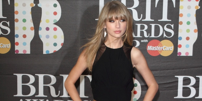 Taylor Swift - BRIT Awards 2013 - Arrivals