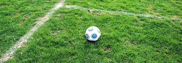 Ball auf dem Rasen