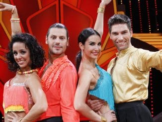 Manuel Cortez mit Melissa Ortiz-Gomez (l.) und Sila Sahin mit Christian Polanc