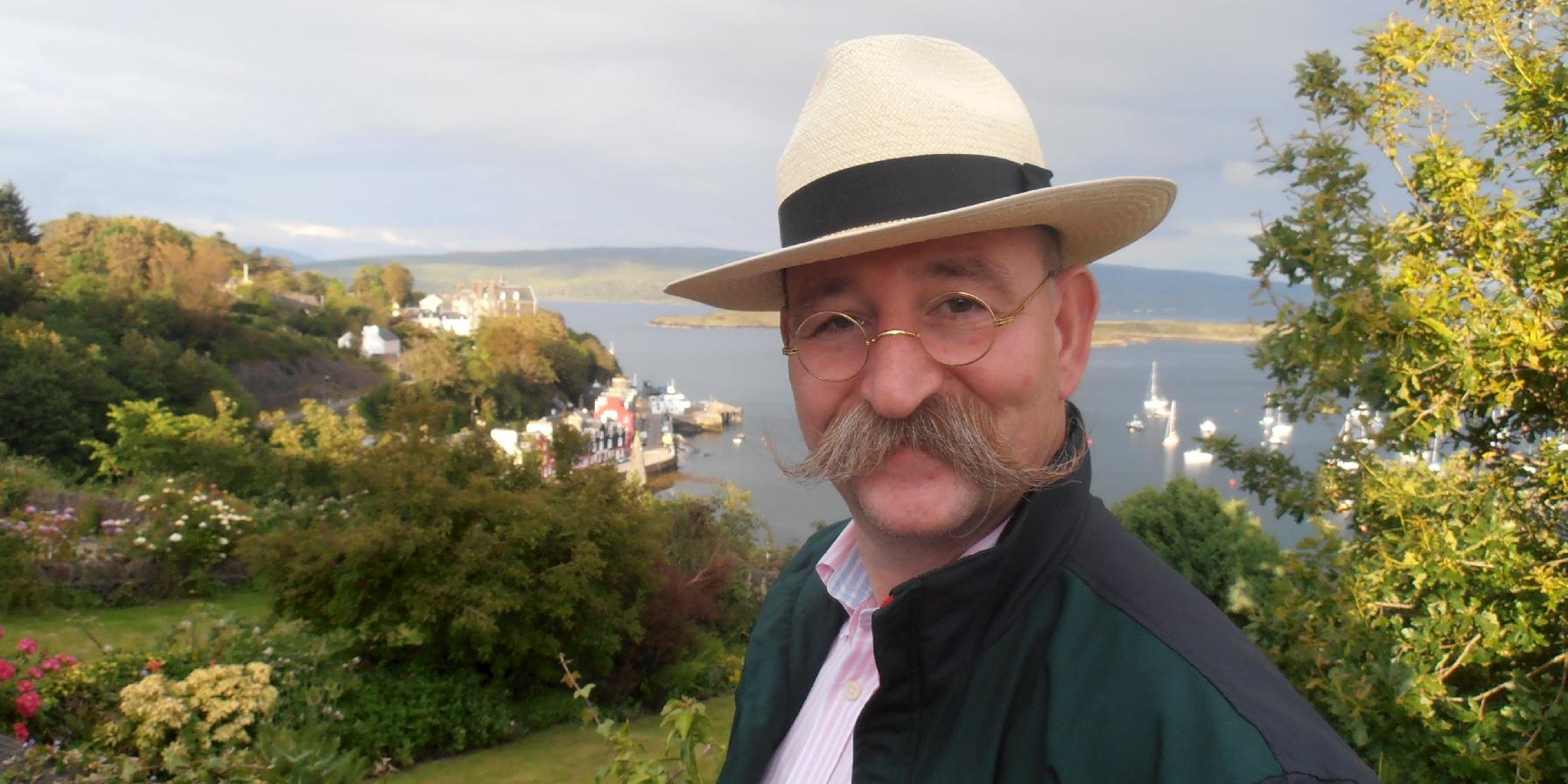 Horst Lichter über der Bucht von Tobermory