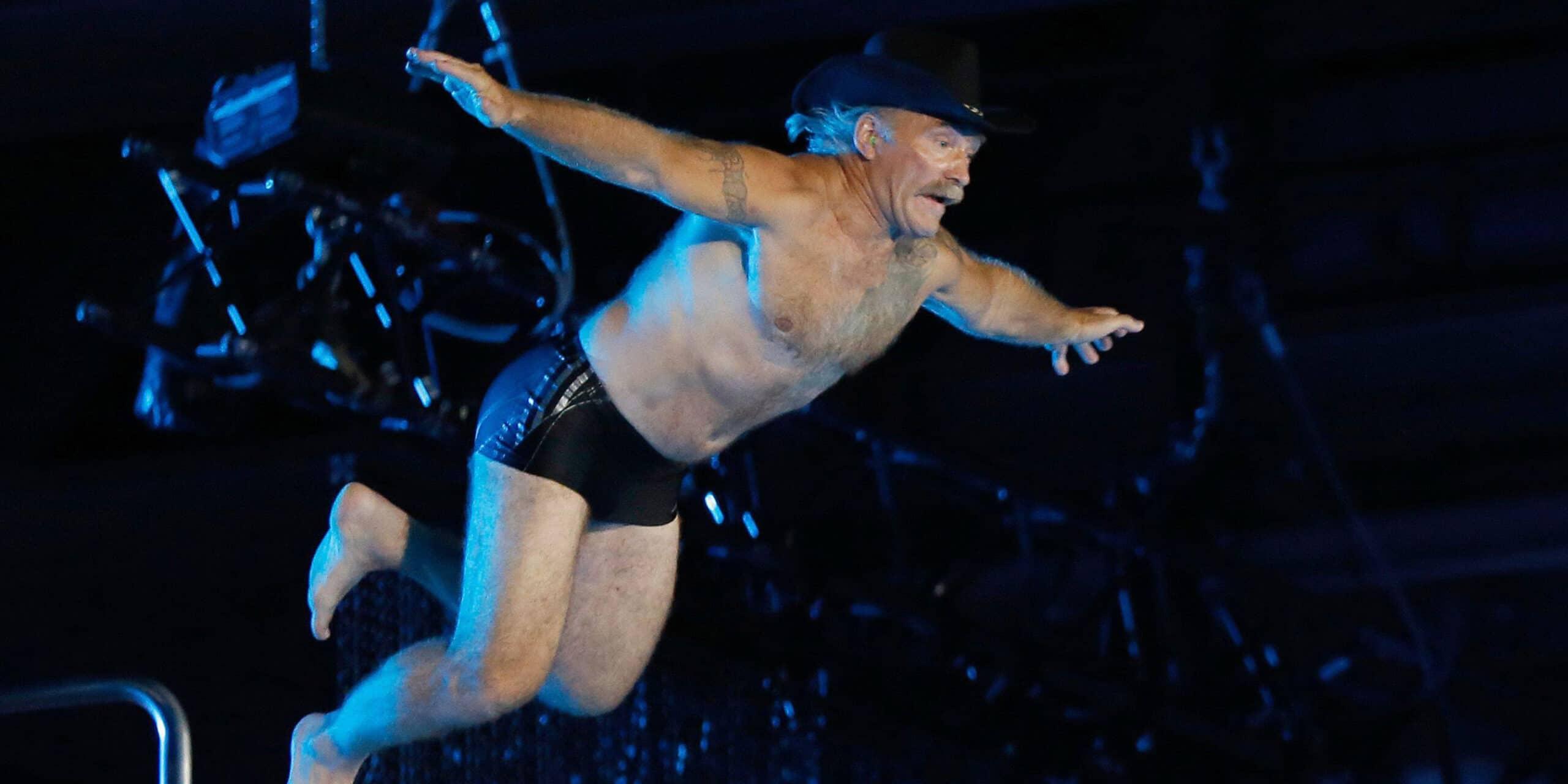 Konny Reimann tritt in der Disziplin Wasserspringen vom 10 Meter Turm an