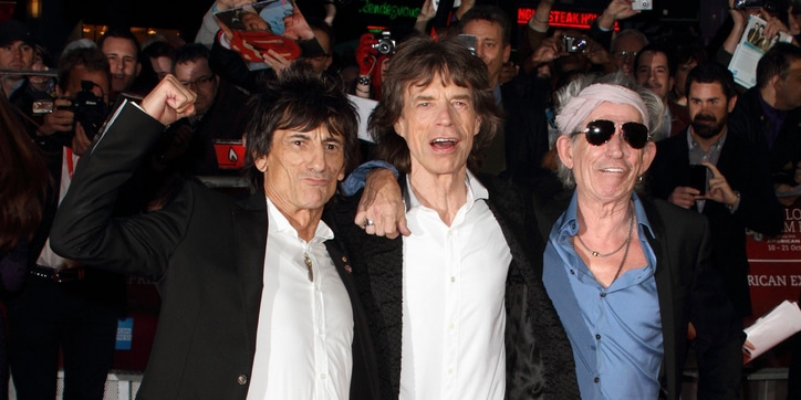 Rolling Stones - Ronnie Wood, Mick Jagger and Keith Richards - 56th Annual BFI London Film Festival