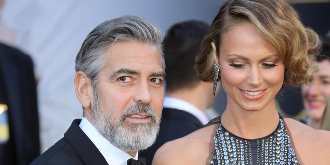 George Clooney and Stacy Keibler - 85th Annual Academy Awards - Arrivals