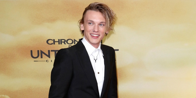 "Jamie Campbell Bower - ""The Mortal Instruments: City of Bones"" Germany Premiere"