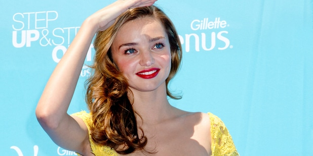 Miranda Kerr Kicks-off the Gillette Venus Step Up & Step Out Summer Tour at Times Square in New York City