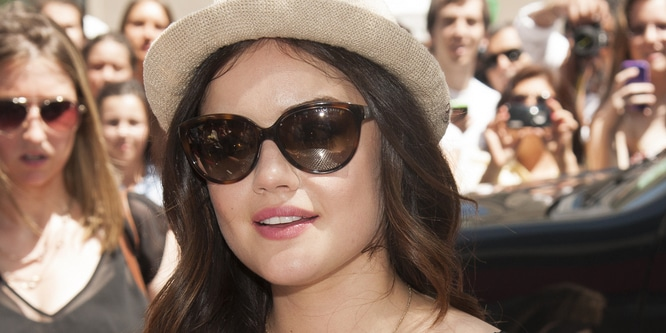 Lucy Hale Promotes Bongo Boutique in Union Square in New York City on June 23, 2013