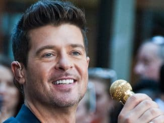"Robin Thicke in Concert on NBC's ""Today"" Show Summer Concert Series at Rockefeller Plaza in New York City"