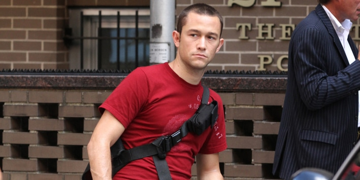 "Joseph Gordon-Levitt - ""Premium Rush"" Filming on the Streets of Manhattan in New York City"