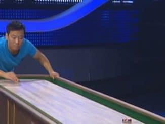 Shuffleboard Pio Suh Schlag den Raab