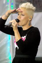 "Pink - Pink in Concert on NBC's ""Today Show"" at Rockefeller Center in New York City"