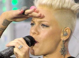 """Pink - Pink in Concert on NBC's """"Today Show"""" at Rockefeller Center in New York City"""