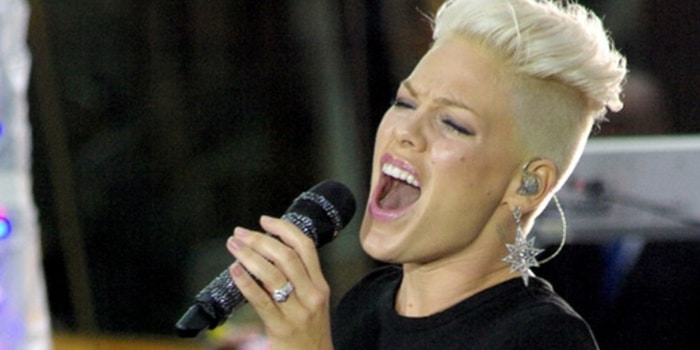 "Pink in Concert on NBC's ""Today Show"" at Rockefeller Center in New York City"