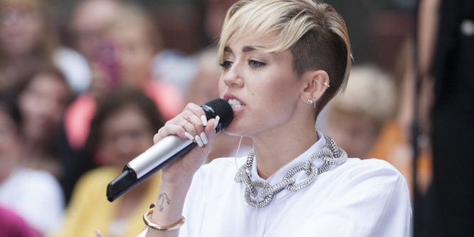 "Miley Cyrus - Miley Cyrus in Concert on NBC's ""Today Show"" at Rockefeller Center in New York City - October 7, 2013 - Rockefeller Center"