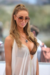 """Lauren Pope - """"The Only Way Is Marbs"""" Filming at the Sisu Hotel Pool Party in Marbella on May 24, 2013"""
