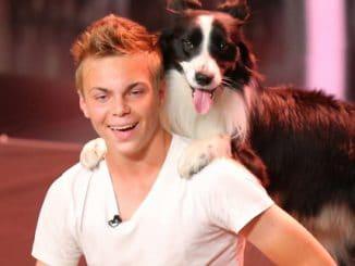 Lukas Pratschker (17) und sein Hund Falco aus Wien
