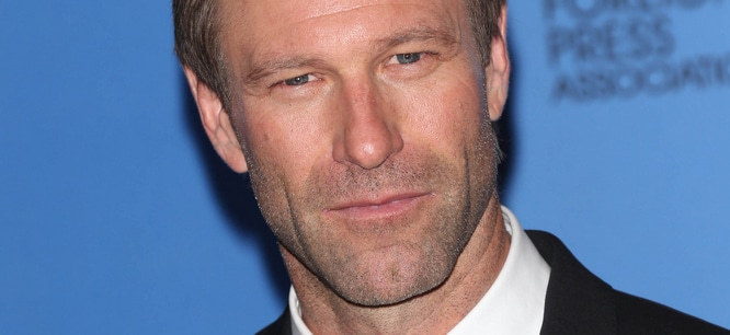 Aaron Eckhart - 71st Annual Golden Globe Awards - Press Room