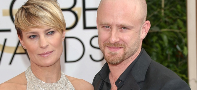 Robin Wright, Ben Foster - 71st Annual Golden Globe Awards