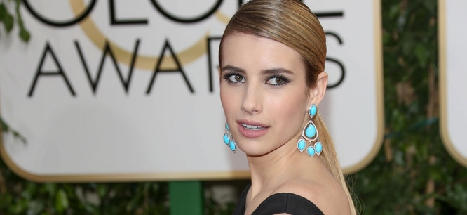 Emma Roberts - 71st Annual Golden Globe Awards - Arrivals