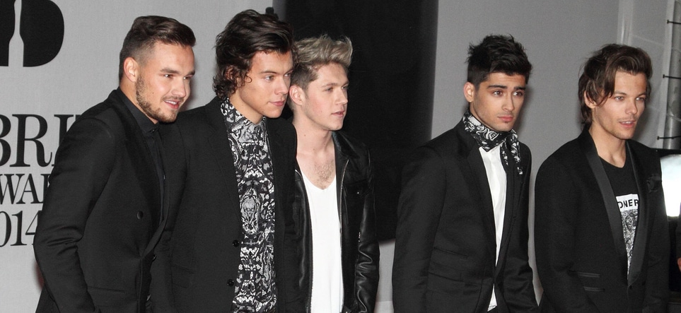 One Direction - BRIT Awards 2014 - Arrivals - 02 Arena