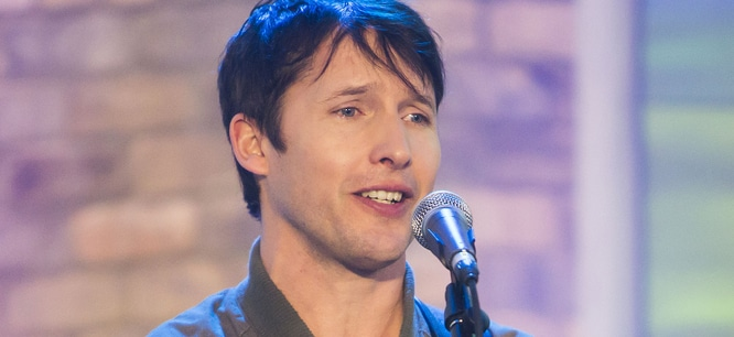 James Blunt Visits The Marilyn Denis Show in Toronto on January 31, 2014 - CTV Queen Street