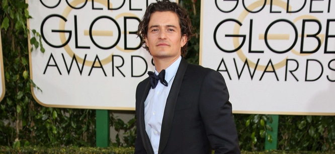 Orlando Bloom - 71st Annual Golden Globe Awards - Arrivals