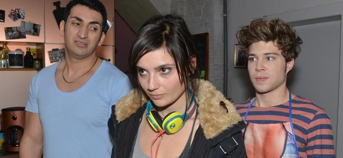 Mesut (Mustafa Alin, l.), Anni (Linda Marlen Runge) und Zac (Jascha Rust)