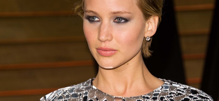 Jennifer Lawrence arriving for the 2014 Vanity Fair Oscars Party thumb
