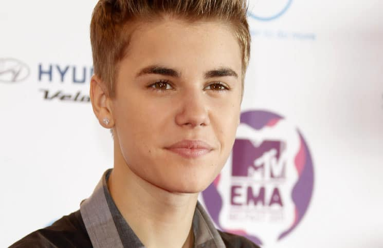 Justin Bieber arriving at the MTV Europe Music Awards