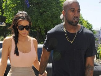Kim Kardashian and Kanye West sighting in Paris