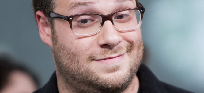 Seth Rogen Visits New.Music.Live. at Bell Media Headquarters