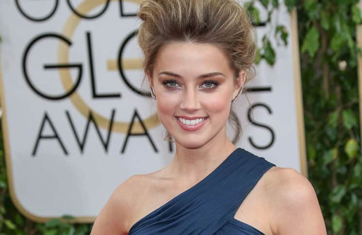 Amber Heard - 71st Annual Golden Globe Awards