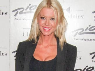Tara Reid Visits Ian Ziering as Celebrity Guest of Chippendales at Chippendales Theater
