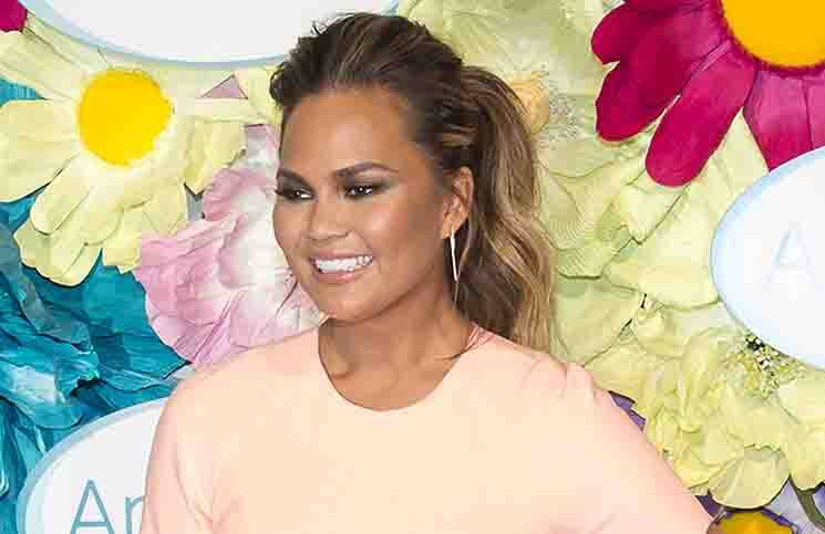 "Chrissy Teigen - Amope Pedi ""Glass-Slipper"" Ready Pedicure Event"