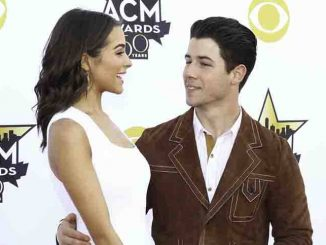 Olivia Culpo and Nick Jonas - 50th Annual Academy of Country Music Awards