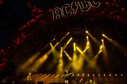 AC/DC in Concert at Vicente Calderon Stadium in Madrid