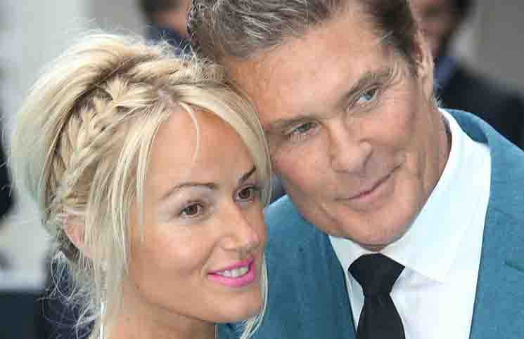 "David Hasselhoff and Hayley Roberts - ""Entourage"" European Premiere"