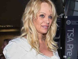 Pamela Anderson Sighted at LAX Airport on June 13, 2015