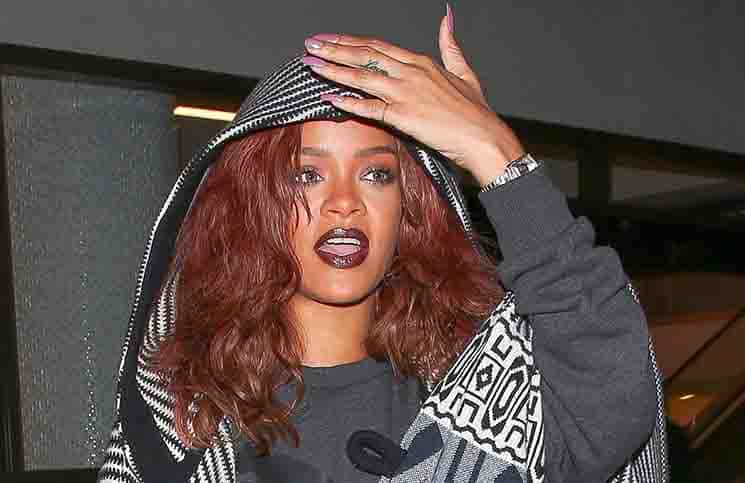 Rihanna Sighted Arriving at LAX on April 29, 2015