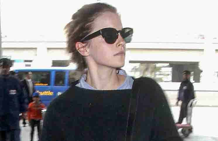 Emma Watson Sighted at LAX on April 25, 2015